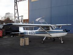 G-ASZU Cessna 150 (Aircaft @ Gloucestershire Airport By James) Tags: cranfield airport gaszu cessna 150 egtc james lloyds