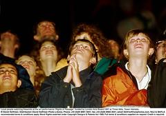 YY48/24 (hoffman) Tags: audience british britishisles child crowd eec england english entertainment eu europe europeanunionec female firework greatbritain horizontal lady leisure night old outdoors performance show spectacle spectator uk unitedkingdom watching woman young youth towerhamlets threemills 1997 londonartsboard rightsofpassage art fireworks london