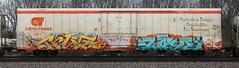 True54/Lost (quiet-silence) Tags: graffiti graff freight fr8 train railroad railcar art true true54 lost tci de flyid cryx cryo cryotrans insulated boxcar cryx6008