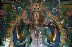 263. Interior, Maitreya (Future Buddha), Nagi Gompa (Nunnery), Shivapuri Nagarjun National Park, Kathmandu, Bagmati State, Nepal (Jay Ramji's Travels) Tags: nepal kathmandu shivapurinagarjunnationalpark bagmatistate northkathmanduvalley nagigompa nunnery buddhism buddhist religious placeofworship statue maitreya futurebuddha