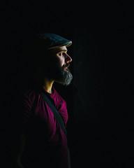 friendly shadows (theoswald) Tags: 35mm d3300 beard darkness light moody nikon people portrait self shadows