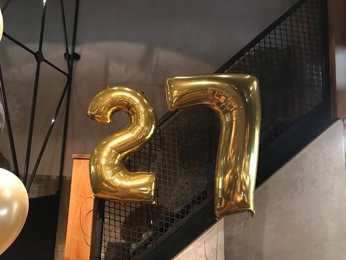 Folieballon Cijfer 27 Cafe in the City Rotterdam
