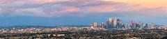 DTLA Sunset Panorama (vandusenerik) Tags: green los angeles dtla pastoral purple california socal southern buildings panorama nikon d800 landscape skyscape clouds