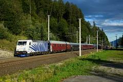185 661, DRV 79155 ( Villach > Hamburg ). Kolbnitz (M. Kolenig) Tags: 185 tauernbahn baum wald autoreisezug