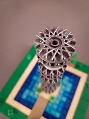 Hub Cap Tower (III). MOC created for New Elementary blog. (betweenbrickwalls) Tags: lego afol toys legoart art microscale nanoscale legophotography toyphotography architecturephotography skyscraper tower