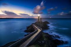 A New Day is Dawning. (darklogan1) Tags: longexposure lighthouse bretagne logan darklogan1 sony a7r2 blue clouds sea sky ocean rock landscape petit minou france waves finistere brittany sonyilce7rm2 canonef1635mmf4l nightphotography petitminou