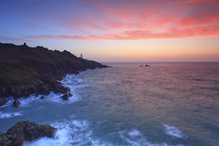 In the Pink at Start Point (markgeorgephotography.co.uk) Tags: winter sunrise beach water sea ocean seascape oceanscape weather sky cloud clouds sun sunlight nature landscape red pink light colour color rock terrain rugged devon england southwestengland southhams southcoast coast coastline britishcoastline lighthouse englishcoast englishcoastline shipping potd canoneos5dsr canon5dsr canon canonef1635mmf28liiusm leefilters landscapephotography landscapephotographer