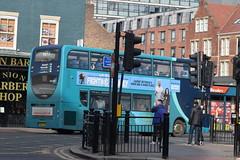 ANE 7529 @ Newcastle-upon-Tyne Eldon Square/Haymarket bus station (ianjpoole) Tags: arriva north east alexander dennis enviro 400 nk64efm 7529 working max route x18 newcastleupontyne haymarket bus station alnwick