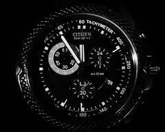 5TO12 (m_laRs_k) Tags: macro time watch clock uhr bw citizen tachymeter lowkey chromecameraprofile olympus omd 1240 macromondays timepieces hmm mlarsk