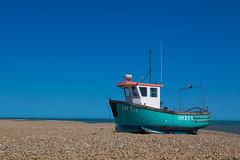 Aldeburgh Beach (mattbeee) Tags: otherkeywords aldeburgh beach blue boat coast onbeach shingle ship suffolk teal