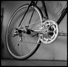 Patelli Champion Speciale (C H R S T P H) Tags: minolta autocord testroll ilford hp5 microphen roadbike rennrad shimano 105 9speed patelli stahlrad steelbike columbus tubing tlr lensfungus