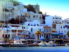 Naxos Waterfront (dimaruss34) Tags: newyork brooklyn dmitriyfomenko image sky clouds greece naxos waterfront water yachts boats trees palmtrees