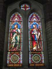 The Saint Simon Peter Window and the Saint Andrew Window by Ferguson and Urie; the Former Saint George's Presbyterian Church - Chapel Street, St Kilda East (raaen99) Tags: fergusonandurie fergusonanduriestainedglass fergusonurie fergusonuriestainedglass victorianstainedglass saint martyr saintpeter saintsimonpeter saintgeorgespresbyterianchurch saintgeorgesunitingchurch saintgeorgeschurch saintgeorgesstkildaeast saintgeorgeseaststkilda stgeorgespresbyterianchurch stgeorgesunitingchurch stgeorgeschurch stgeorgesstkildaeast stgeorgeseaststkilda unitingchurch presbyterianchurch presbyterian eaststkilda stkildaeast chapelstreet chapelst church placeofworship religion religiousbuilding religious melbourne nineteenthcentury victoria australia gothicrevivalarchitecture gothicarchitecture gothicrevivalchurch gothicchurch gothicbuilding gothicrevivalbuilding ecclesiastical gothicrevivalstyle gothicstyle architecturallydesigned albertpurchas architecture building window stainedglass stainedglasswindow lancet lancetwindow detail bible biblical quote biblicalquote biblicalfigure man male edwardian 1904 1910 twentiethcenturystainedglass 20thcenturystainedglass alexanderpurvesmacadam alexanderpurvesmacadammemorial memorial barbarapurvesmacadam barbarapurvesmacadammemorial saintandrew