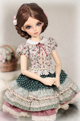 Gentle Flowers adorable spring dress (Sewing Fairy) Tags: handmade doll dress clothes msd minifee bjd fairyland flowers lace sewing nanuri16
