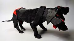 Can Cerbero (mrmicawer) Tags: papiroflexia origami papel can cerbero hades infierno perro tres cabezas estigia mitología grieta