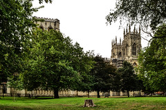 York Minster (MikeTheExplorer) Tags: york yorkshire england unitedkingdom greatbritain architecture travel traveling traveler wanderlust travelling traveller autumn fall light sunnyday yorkminster minster cathedral deanspark park church