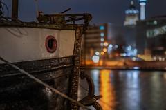 Fischerinsel (karstenlützen) Tags: germany berlin fischerinsel cityscape citylights pier jetty night greatphotographers