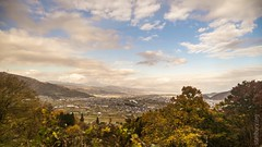 Autumn view (FlickrDelusions) Tags: foothills landscape railviews japan japanesealps