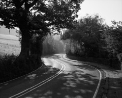 Winding Road (Mr.KPG) Tags: winding road fuji gw670 gw670iii mono blackandwhite portra 400 peakdistrict