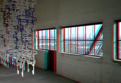 HAKA-gebouw Rotterdam 3D (wim hoppenbrouwers) Tags: hakagebouw rotterdam 3d anaglyph stereo redcyan object art windows euromast