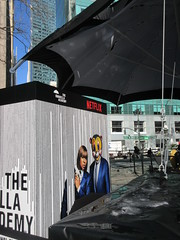 2019 Big Umbrella Academy in Bryant Park NYC 1327 (Brechtbug) Tags: big umbrella bryant park nyc 2019 february 02132019 new york city 6th avenue near 42nd st behind public library midtown manhattan the academy netflix tv series comic book based starting friday 15th bumbershoot umbrellas