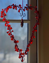 For Valentine's Day    (45) (newenglandgal) Tags: 365 heart valentine red 119in2019 sentimental 52in2019 beads beaded scavenger4 ansh