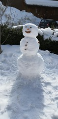 Sweet (MargrietPurmerend) Tags: snow snowman sunshine wintersport winterfun