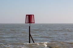 Sunken marker (Dan Elms Photography) Tags: dovercourt dovercourtessex lighthouse sea coastal essex coast seaside beach england canon 5d 100mm macro macrolens