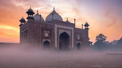 Just Because (...Kush...) Tags: incredibleindia india tajmahal goldensunrise sunrise mughal architecture photography landscape fuji mosque love agra