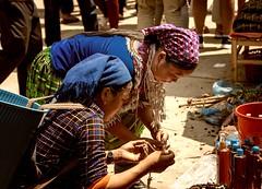 Quality Check (Rod Waddington) Tags: asia asian vietnam vietnamese hmong minority ethnic ethnicity tribe tribal market women buying jewellery traditional streetphotography street candid