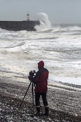 storm gareth 11 (photoautomotive) Tags: newhaven eastsussex england uk europe englishchannel stormgareth sky sea sussex lighthouse breakwater beach tripod tog photograher photography crashing crashingwaves crash bashing smashing surge storm canon 7d 35350l