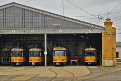 Tatra T4D-M #2190 #2132 #2128 #2136 LVB Leipzig Lipsk (3x105Na) Tags: tatra t4dm 2190 2132 2128 2136 lvb leipzig lipsk strassenbahn strasenbahn tram tramwaj deutschland germany niemcy sachsen saksonia