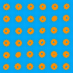 713 (MichaelTimmons) Tags: blue orange art digitalart artwork circles digitalpainting rows fluorescent skyblue