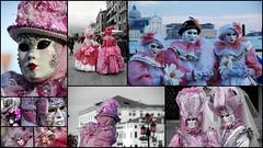 Carnaval rose (Venise, Italie) (Thierry LARERE) Tags: italie italia venise carnavaldevenise carnaval venezia rose masque chapeau masquevénitien réverbère