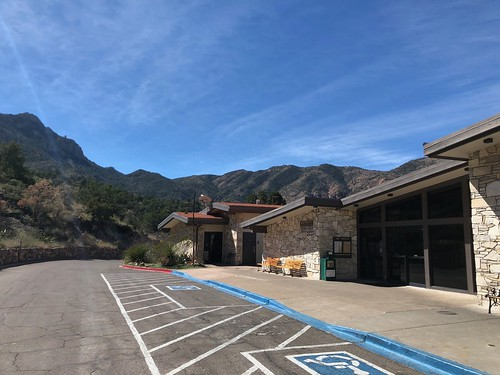 Entrance to Chisos Mountains Lodge