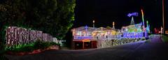 Merry Christmas Everyone (John_de_Souza) Tags: johndesouza merrychristmaseveryone sonya7rii laowa12mmf28 panorama christmaslights suburban house