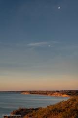 Port Willunga Camping (Helen C Photography) Tags: port willunga south australia beach ocean shore nikon d750 water waves sky moon twilight dusk orange blue