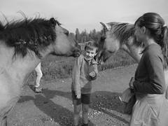 Tickle, tickle... (gabriele.bozzi) Tags: wildhorses belgium kids tickle newfriends spring