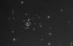 The Crab and the Beehive (Radical Retinoscopy) Tags: cancer crab m44 cluster blackandwhite beehive beehivecluster nightsky nebulosity starspikes