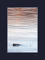 Finding the Calm (After-the-Rain) Tags: calm water reflections icm movement lakedistrict derwentwater ©joanthirlaway january2019 stone ripples meditation serenity calming cumbria intentionalcameramovement