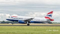 G-EUPW   Airbus A319-100 - British Airways (Peter Beljaards) Tags: msn1440 v2500 britishairways airbusa319100 a319 airbusa319 geupw nikon7003000mmf4556 ams eham schiphol airplane aircraft nikon takeoff