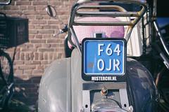 """F64 0JR"" (Eric Flexyourhead) Tags: ndsm ndsmwerf nederlandschedokenscheepsbouwmaatschappij amsterdamnoord amsterdam netherlands holland nederland city urban detail fragment scooter numberplate licenseplate shallowdepthoffield sonyalphaa7 zeisssonnartfe35mmf28za zeiss 35mmf28"
