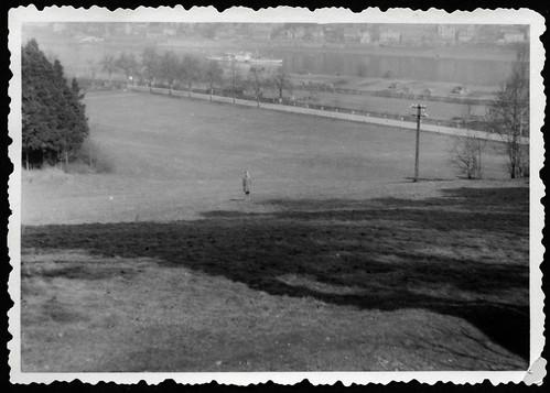Archiv S200 Flußlandschaft mit Dampfer, 1960er