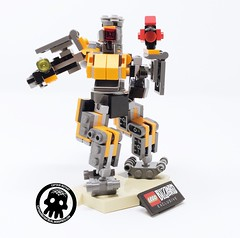 3-Action Display (captainmutant) Tags: afol lego legospace legography photography sciencefiction scifi brickography toy overwatch blizzard