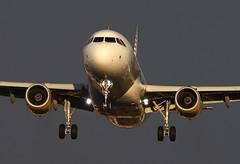 Landing at sunset (vic_206) Tags: sunset light vueling airbusa320214 bcn lebl