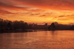 A Fiery Sky (Tracey Whitefoot) Tags: 2019 tracey whitefoot nottinghamshire notts nottingham newstead abbey lake water sunrise dawn reflections heritage fire sky reflection frozen winter poet lord byron