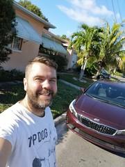 Rental Selfie (Toni Kaarttinen) Tags: usa unitedstates florida wpb america lakeworth lw palmbeachcounty man guy beard bear selfie hairy scruff kia