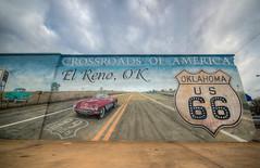 Crossroads of America on Route 66 (ap0013) Tags: elreno oklahoma elrenooklahoma route66 ok el reno mural shield downtown town