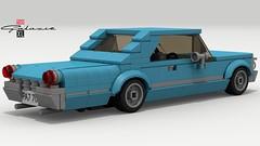 1963 Ford Galaxie (rear view) (LegoGuyTom) Tags: ford galaxie 500 1963 classic vintage american america muscle car cars cruiser nascar coupe lego legos ldd legodigitaldesigner designer digital legocity city pov povray lxf download dropbox