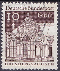 Deutsche Briefmarken (micky the pixel) Tags: briefmarke stamp ephemera deutschland bundespost berlin dauermarken bauwerk wallpavillon dresdnerzwinger dresden sachsen